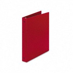 "1"" Economy Red Three Ring Binder"