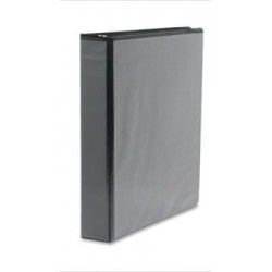 "1"" Black Three Ring View Binder"
