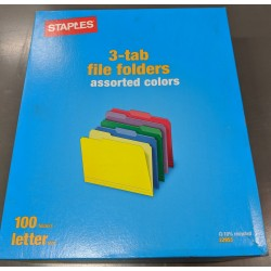 *Free* Letter Assorted Color File Folders, 1/3 Cut