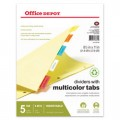 Insertable Dividers With Tabs, Multicolor (5 Tabbed Dividers)