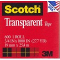 "3/4"" x 1000"" Scotch Transparent Tape"