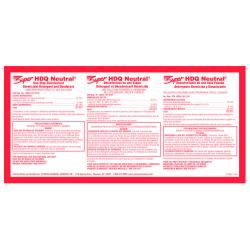 Super HDQ Neutral Disinfectant Label