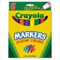 Crayola Classic Color Markers, Broad Point, 8 ct.