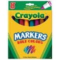 Crayola Bold Color Markers, Broad Point, 8 ct.