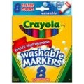 Crayola Bold Color Washable Markers, Broad Point, 8 ct.