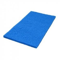 "14"" x 20"" Blue Square Scrub Pad - Box of 5"