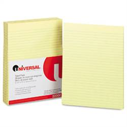 "8.5"" x 11"" Yellow Wide Ruled Loose Leaf Paper, 500 Sheets"